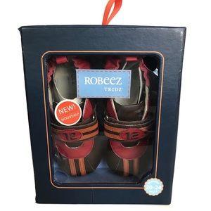 Roberts Tredz brown flames shoes, size 7-8